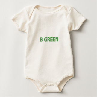 B GREEN BABY BODYSUIT