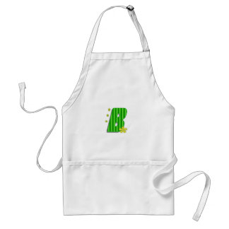 b green monogram adult apron