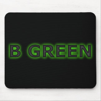 B GREEN MOUSE PAD