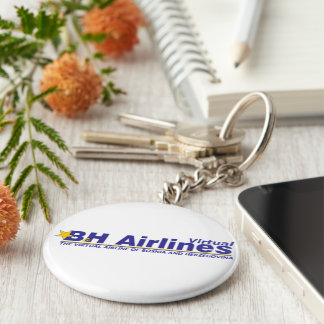 B&H Airlines Virtual - Key Ring Basic Round Button Keychain