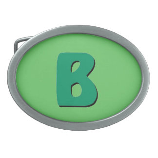 B HEBILLA CINTURON OVAL