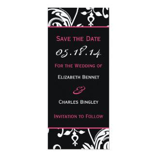 B&HP Contemporary Skinny Save the Date Custom 4x9.25 Paper Invitation Card
