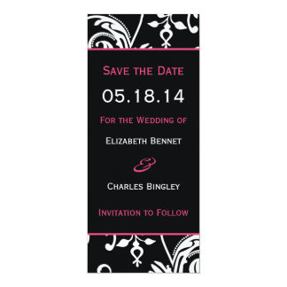 B&HP Contemporary Skinny Save the Date 4x9.25 Paper Invitation Card