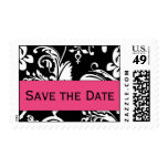 B&HP Damask Save the Date Postcard Postage
