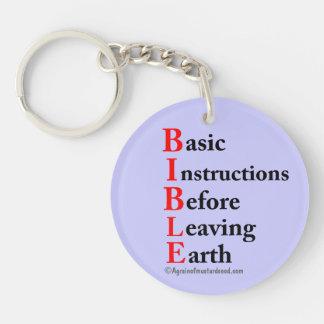 B.I.B.L.E Basic Instructions Before Leaving Earth Keychain