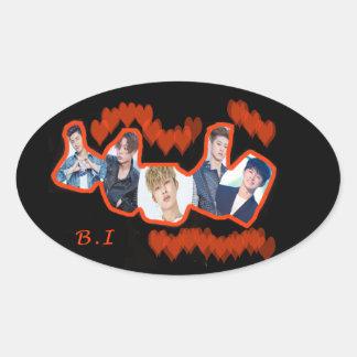 B.I Love Oval Sticker