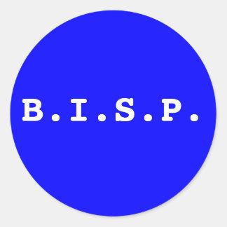 B.I.S.P. PEGATINA REDONDA