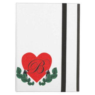 B in a heart iPad air cover