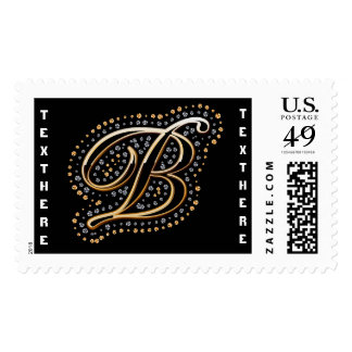B-Initial Monogram  Please View Notes Postage Stamps