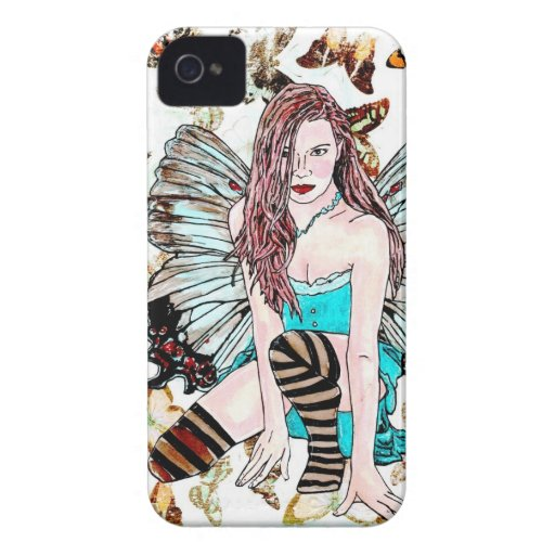 "B iPhone 4 Case ""Wings Fairy"""