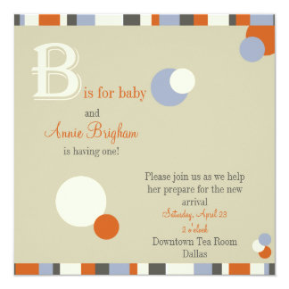 B is for Baby - Boy Baby Shower Invitation