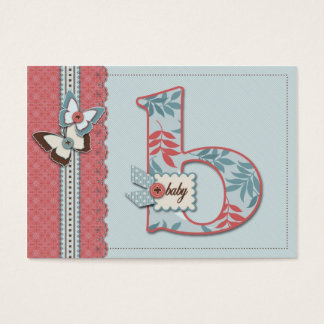 B is for Baby Reminder Notecard Business Card