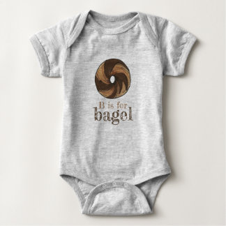 B is for Bagel Marble Rye Foodie Letter B Alphabet Baby Bodysuit