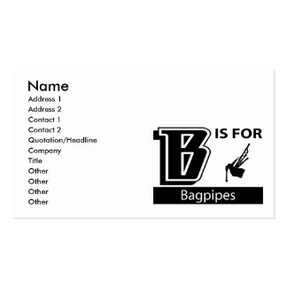 B Is For Bagpipes Business Card Templates