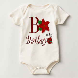 B is for Bailey, Baby's First Christmas Romper