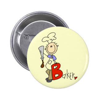 B is for Baker Tshirts and Gifts Buttons