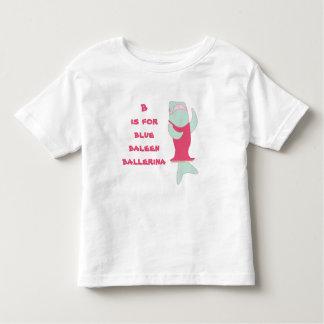 B is for baleen ballerina t shirt
