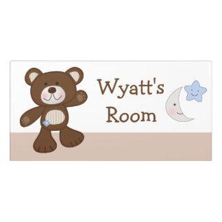 B is for Bear Teddy Baby Kid's Nursery Door Sign