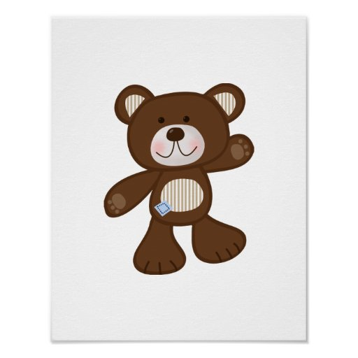 B is for Bear Teddy Bear Art Poster