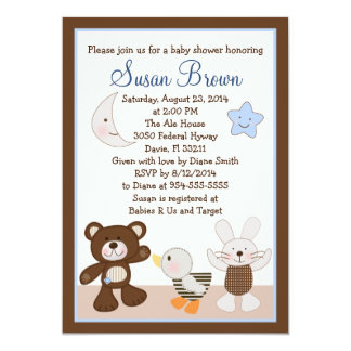 B is for Bear/Teddy Bear Baby Shower Invitation