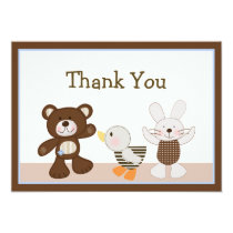 B is for Bear/Teddy Bear Thank You Card