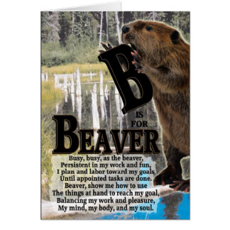 B is for BEAVER Greeting Card