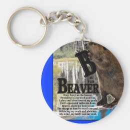 B IS FOR BEAVER KEYCHAIN