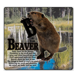 B is for BEAVER!  POSTER