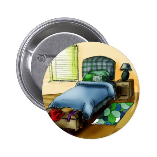 B is for Bedroom 2 Inch Round Button