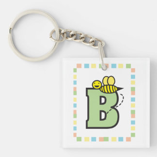 B is for Bee Key Chain