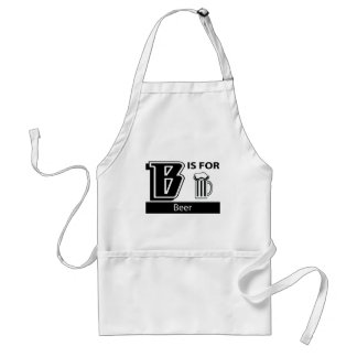 B Is For Beer Adult Apron