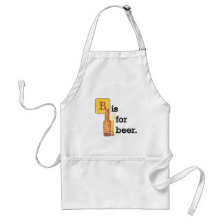 """""""B"""" is for Beer Adult Apron"""