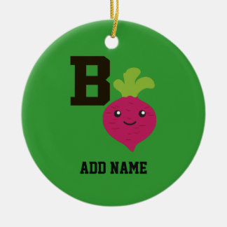 B is for Beet Ceramic Ornament