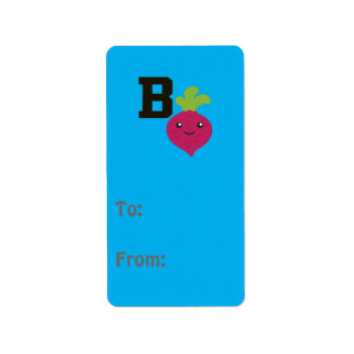 B is for Beet Label
