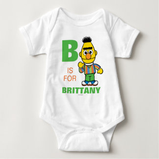 B is for Bert | Add Your Name Baby Bodysuit