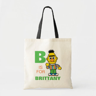 B is for Bert | Add Your Name Tote Bag