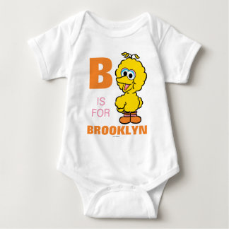 B is for Big Bird | Add Your Name Baby Bodysuit
