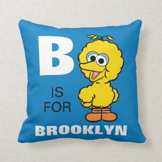 B is for Big Bird | Add Your Name Throw Pillow