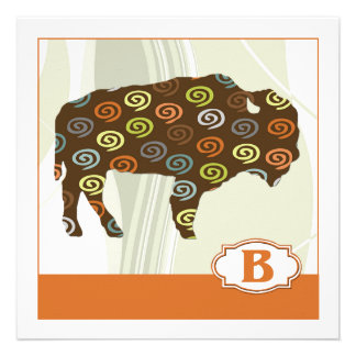 B is for Bison Custom Invite