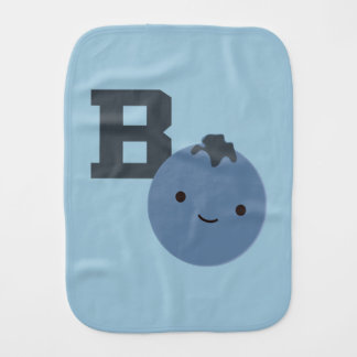 B is for Blueberry Baby Burp Cloth