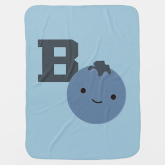 B is for Blueberry Swaddle Blanket