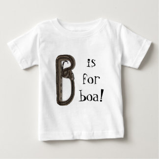 """B is for boa!"" Baby T-Shirt"