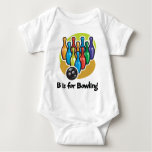 B is for Bowling Baby Bodysuit