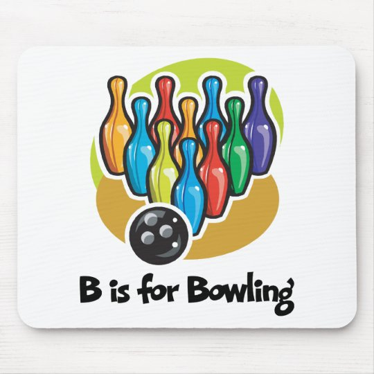 B is for Bowling Mouse Pad