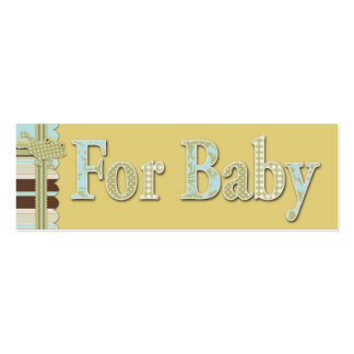 B is for Boy Skinny Gift Tag Business Card Template