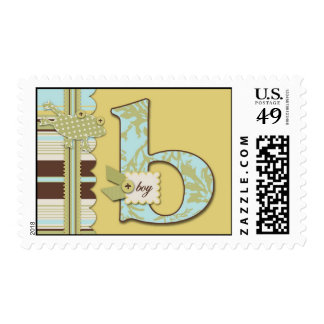B is for Boy Stamp