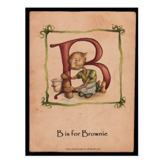 B is for Brownie Postcard