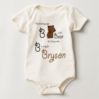 B is for Bryson, Baby Bear Tee