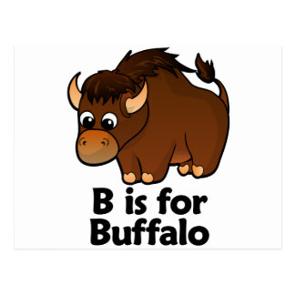 B is for Buffalo Postcard