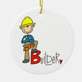 B is for Builder Ceramic Ornament